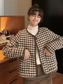 復古港味小香風外套女裝秋季2020年新款韓版秋冬格子短款開衫上衣