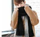 韓版情侶圍巾冬季長款毛線圍巾百搭男女加厚簡約秋冬季圍脖男學生  9號潮人館