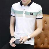 夏季男士polo衫青少年學生潮男裝t恤有領上衣