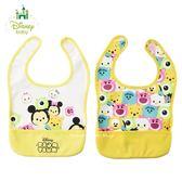 日本限定 DISNEY baby 米奇家族 茲姆茲姆  Tsum Tsum 兒童 圍兜兜 兩件套組
