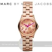 【南紡購物中心】Marc by Marc Jacobs 國際精品 Henry Glossy Pop 時尚腕錶-IP玫瑰金/27mm MBM3271