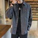 長袖加絨襯衫男2020秋冬季新款韓版潮流休閒保暖襯衣秋裝上衣外套 果果輕時尚
