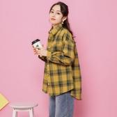 加絨襯衫女長袖韓版時尚保暖寬鬆格子加絨加厚冬季襯衣女一體絨BF koko時裝店