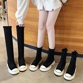 長靴 加絨靴子女2020秋款高筒小個子長靴網紅中筒靴百搭短靴不過膝靴冬 風馳