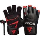 【線上體育】RDX GYM GLOVE LEATHER RED/BLACK