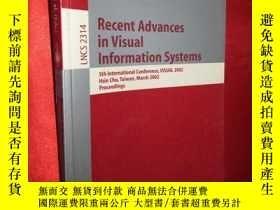 二手書博民逛書店Recent罕見Advances in Visual Infor