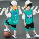 兒童裝男童夏裝套裝2021年新款夏季網紅速干運動男孩籃球服帥氣潮 蘿莉新品