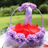 婚禮花童撒花瓣小花籃花瓣撒花道具