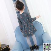 女童秋裝新款韓版兒童純棉碎花洋氣裙子長袖公主裙時尚洋裝 CY潮流站