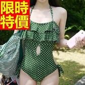連身泳衣 泳裝-音樂祭沙灘衝浪必備比基尼顯瘦簡單54g174【時尚巴黎】