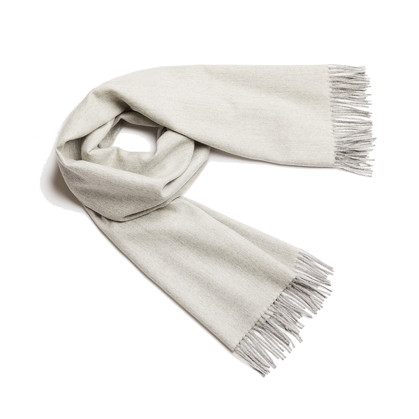 Alpaka Shawl Exclusive Fishbone 100% 65x200cm 極致魚骨紋系列 素面單色 羊駝毛 披肩 / 圍巾(米白純粹)