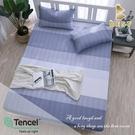 【BEST寢飾】天絲床包三件組 特大6x7尺 麻趣布洛-藍 100%頂級天絲 萊賽爾 附正天絲吊牌 床單