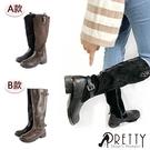 女款長靴/騎士靴 美型顯瘦必備側拉鍊中高跟長靴/騎士靴【PRETTY】BA-20558/BA-20503
