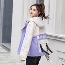 羽絨外套韓版外套 加厚冬季上衣 休閒夾克外套加絨 原宿風棉服女生外套 寬鬆工裝女士外套
