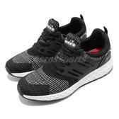 DIADORA 訓練鞋 黑 白 飛織鞋面 緩震回彈 慢跑鞋 運動鞋 男鞋【PUMP306】 DA9AMC6880