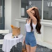 復古高腰側拉鏈彈力牛仔褲夏季緊身顯瘦A字短褲休閒熱褲女 快速出貨