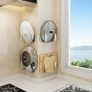 不銹鋼廚房置物架壁掛式案砧板菜板刀架牆上免打孔鍋蓋收納架家用 怦然心動