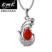 【KMK天然寶石】守護者的海洋(純天然深海紅/粉珊瑚-項鍊)