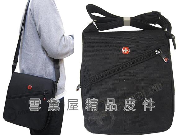 ~雪黛屋~OVER-LAND 肩側包小容量扁包設計主袋+外袋共三層底部可加大容量防水尼龍布T5286(小)