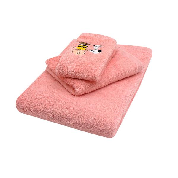 PEANUTS SNOOPY史努比 純棉刺繡方巾毛巾浴巾3入組