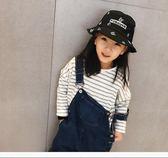 兒童遮陽帽 春季新款韓版兒童漁夫帽春秋男童防曬遮陽帽太陽帽子女童盆帽 至簡元素