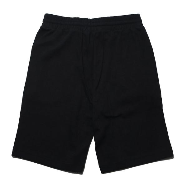 FILA 短褲 黑 刺繡LOGO 棉 休閒 運動褲 男 (布魯克林) 1SHV1509BK