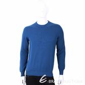 Andre Maurice 100%喀什米爾飽和藍圓領針織羊毛衫(男裝) 1740115-23