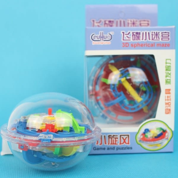 智慧軌道球 75關 小旋風智力迷宮/一個{定70} 迷宮球 智力球 CF131362