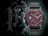 【時間道】POLICE 八角大錶徑炫彩玻璃多時區腕錶/黑面黑皮(15385JSB-02)免運費
