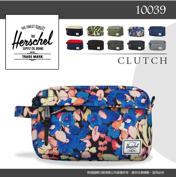 《熊熊先生》Herschel加拿大品牌CHAPTER小包10039高質感手拿包旅行包藍/綠/灰/黑休閒包防潑水尼龍包