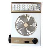 太陽能充電風扇學生宿舍臺式蓄電池便攜戶外帳篷燈SMY6100【123休閒館】