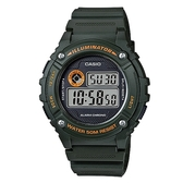 【CASIO】 機械設計感電子錶-軍綠(W-216H-3B)