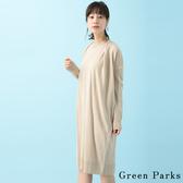 ❖ Hot item ❖ 前抓摺設計長袖針織洋裝/裙 - Green Parks