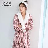 浴袍女夏新娘和服睡衣秋冬法蘭絨長袖可愛韓版睡袍珊瑚絨加厚晨袍