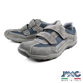 【IMAC】義大利時尚牛皮氣墊休閒鞋 灰藍(70761-GRI)