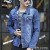 新款男士牛仔外套男韓版修身春季寬鬆夾克學生上衣帥氣潮流褂-當當衣閣