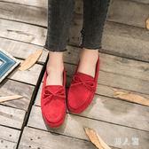 豆豆鞋 女平底單鞋2019春季牛筋軟底休閒懶人孕婦鞋媽媽平跟瓢鞋 FR7074『男人範』