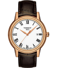 TISSOT 天梭 T-Classic Carson 羅馬石英手錶-白/咖啡 T0854103601300