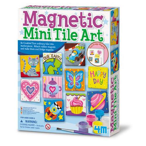《4M美勞創作》創意塗鴉磚Magnetic Tile Art  ╭★ JOYBUS玩具百貨
