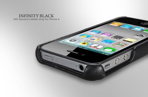 【東西商店‧出清3折價】SGP iPhone 4 / 4S Genuine Infinity Leather Grip 皮革保護殼