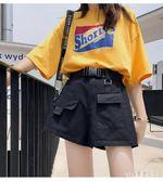 運動短褲女夏寬鬆夏季新款學生五褲子闊腿直筒bf潮 aj15261『pink領袖衣社』