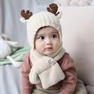 寶寶帽子秋冬季半歲1-2歲可愛超萌兒童護耳毛線嬰兒帽圍巾男女孩