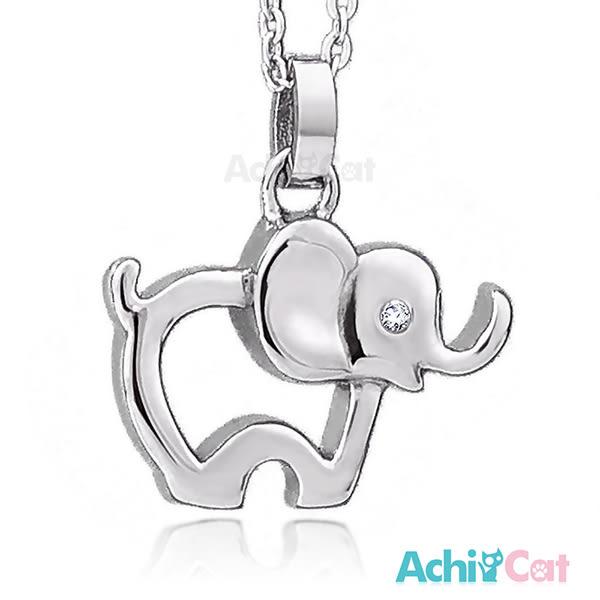 鋼項鍊 AchiCat 珠寶白鋼 勇敢飛象 大象 送刻字
