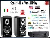 義大利製 Sonus Faber Sonetto II 喇叭 + QUAD Vena II PLAY - 現貨可視聽