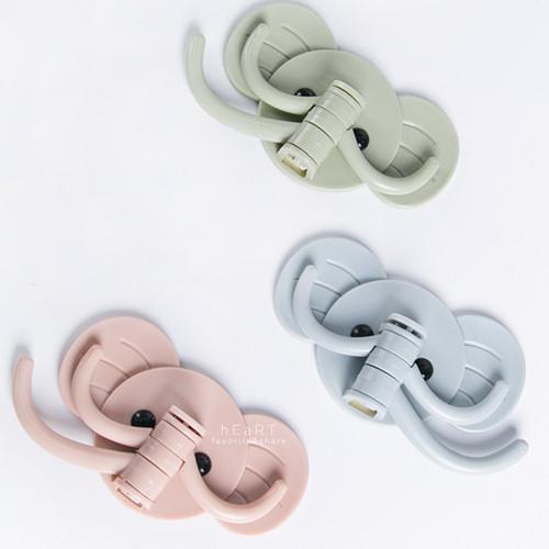 自黏式大象造型掛勾 180度旋轉掛勾 造型掛勾