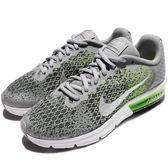 Nike 慢跑鞋 Air Max Sequent 2 氣墊 針織鞋面 灰 綠 女鞋 大童鞋 【PUMP306】 869993-003