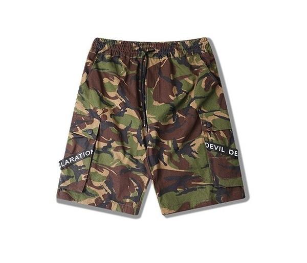 FINDSENSE H1夏季 日本 新款 嘻哈 個性迷彩  運動休閒 五分褲短褲