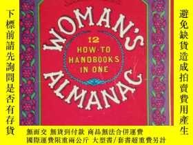 二手書博民逛書店英文原版罕見WOMAN S ALMANAC 12 HOW-TO
