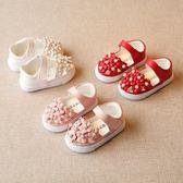 春夏韓版兒童單鞋寶寶公主鞋0-1-2-3歲女童包頭半涼鞋嬰兒學步鞋