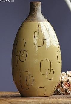 【協貿國際】孤品高檔花瓶高溫陶瓷釉面寶圓花瓶